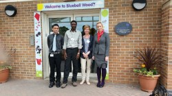 Phoenix, Pascal, Lynne and Kerry visit Bluebellwood Childrens Hospice
