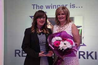 Rebecca Parkin with Carole Haywood and award