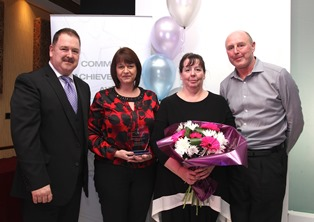 Team members from Rotherham Communtiy Transport with award