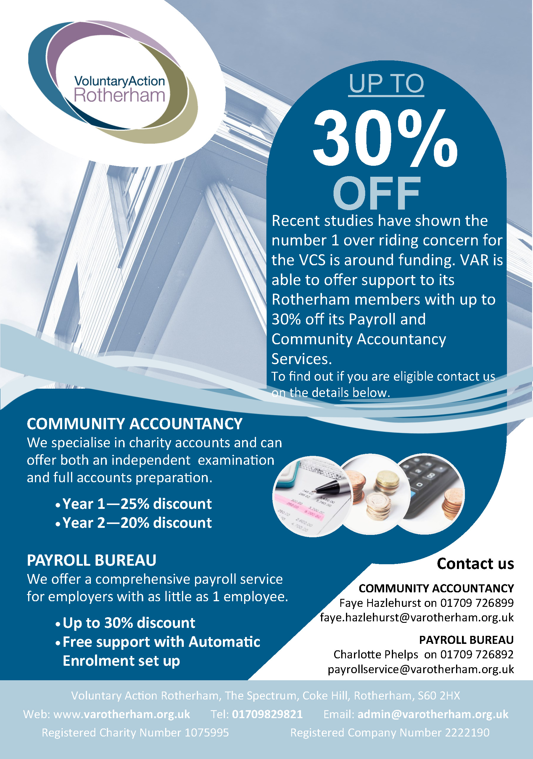 discounts available on payroll and community accountancy services payroll accounts discount flyer 2