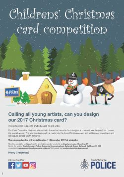 With Christmas Just Around The Corner, South Yorkshire Police Have Launched  Their Annual Festive Competition For Youngsters To Design Their 2017  Christmas ...