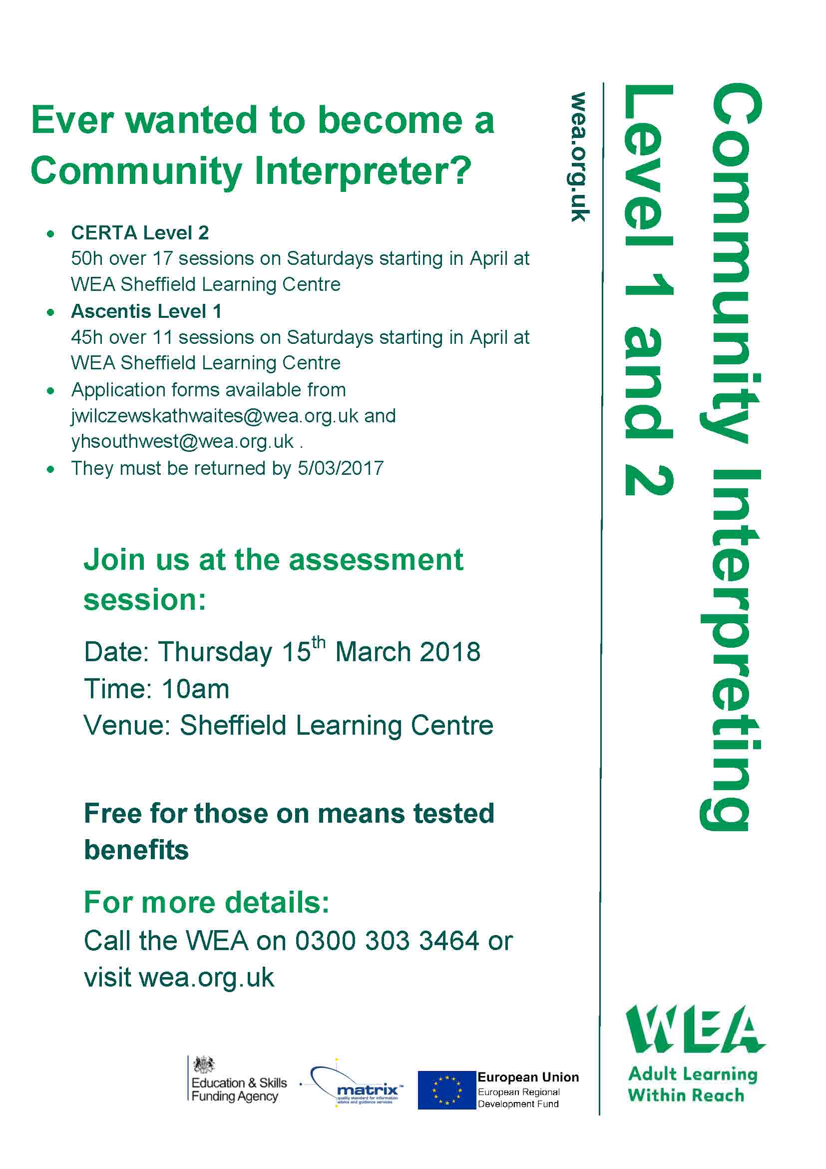 community interpreting poster template l1 and 2 march 2018