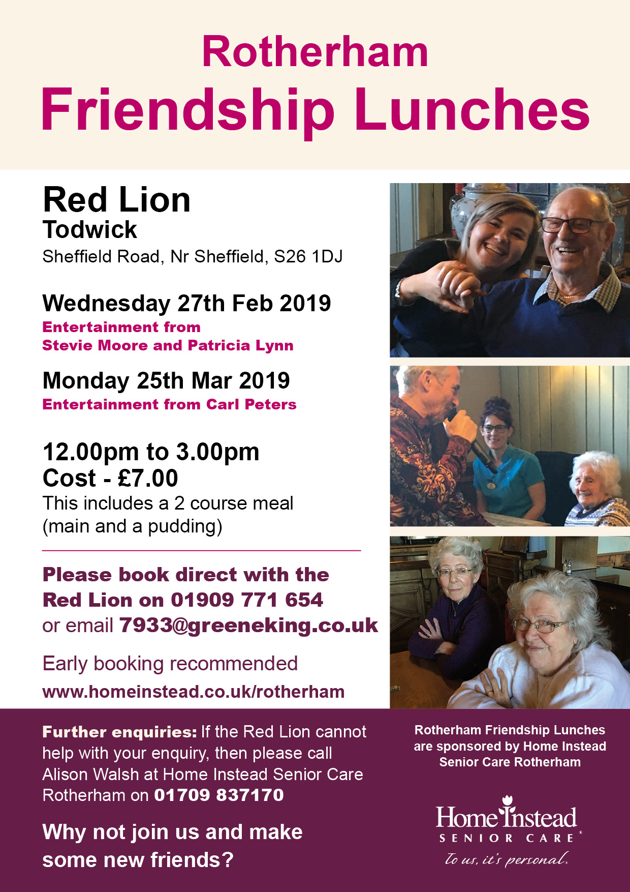 Rotherham Friendship Lunches - Voluntary Action Rotherham